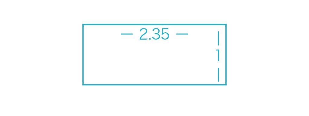シネスコープサイズのアスペクト比