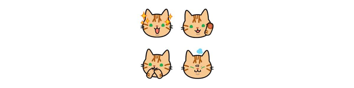 とら猫きなものねこねこ絵文字のLINE絵文字第1弾