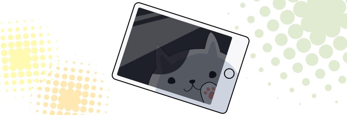 スマホからリッチメッセージの配信をする猫のキャラクター
