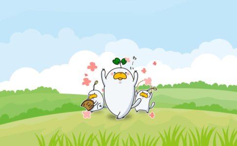 LINEスタンプの売り上げアップを祝うLINEスタンプのキャラクター達