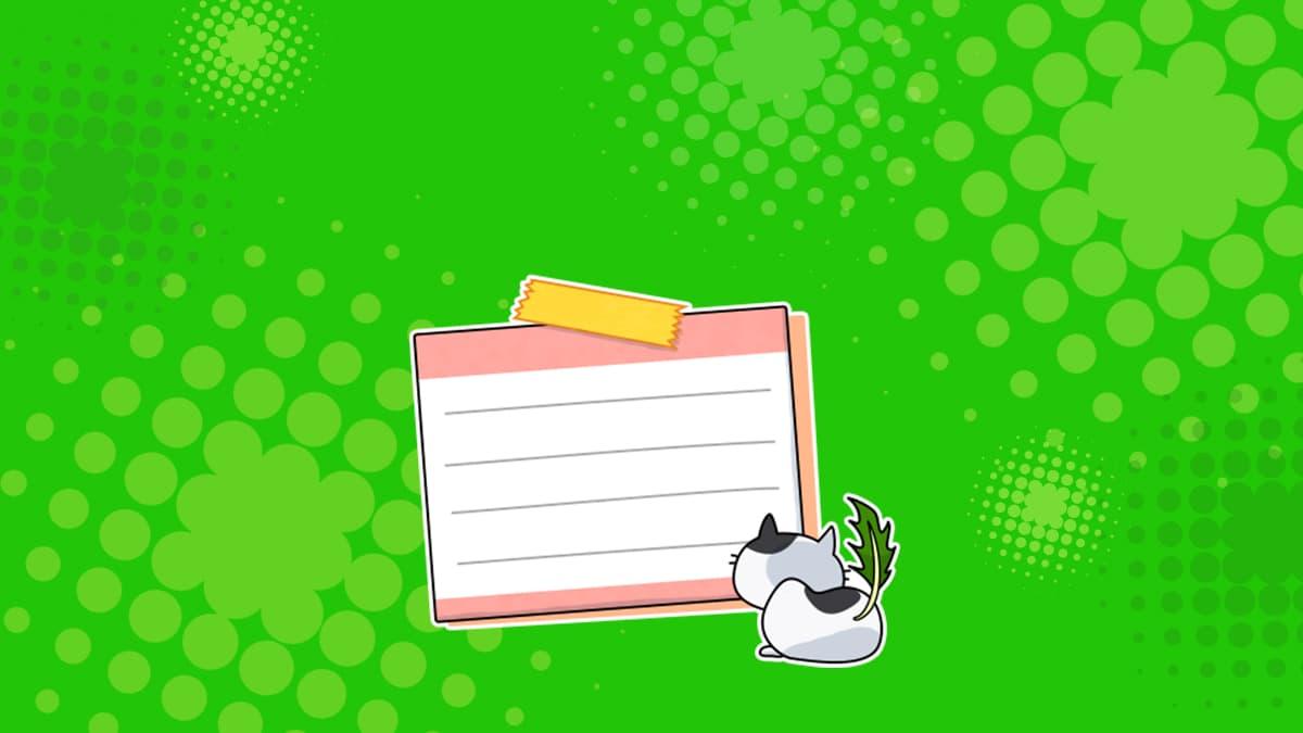 LINE絵文字の作り方をわかりやすく解説する記事のメモと猫が写っているカバー画像
