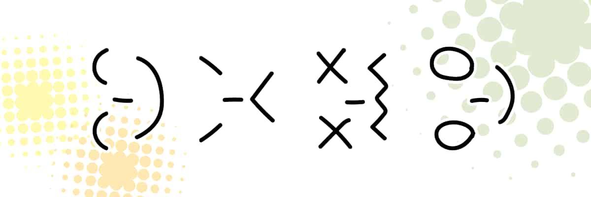 海外の顔文字で使われるエモティコン