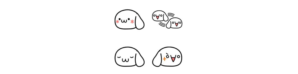 LINE絵文字の犬な顔文字サムネイル画像
