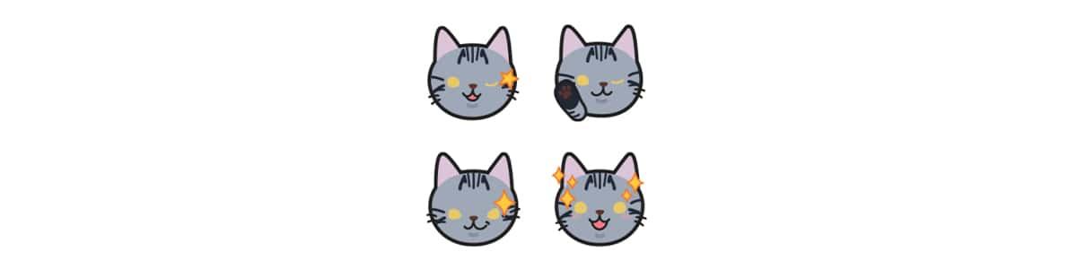 サバトラ柄猫こしょうのLINE絵文字第1弾